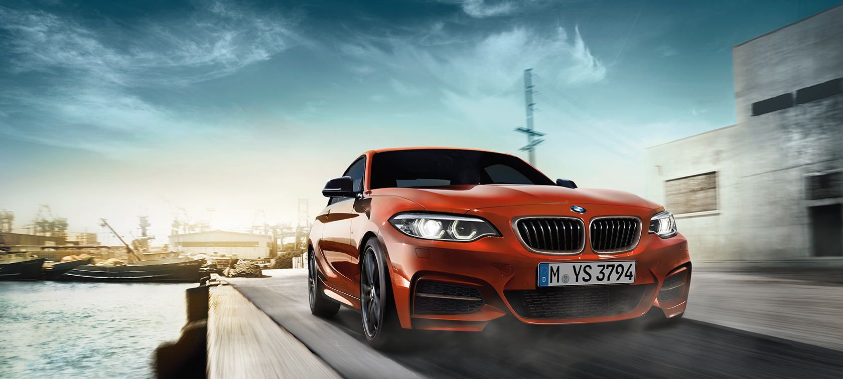 BMW 2 Series Coupé, driving shot three-quarter front shot