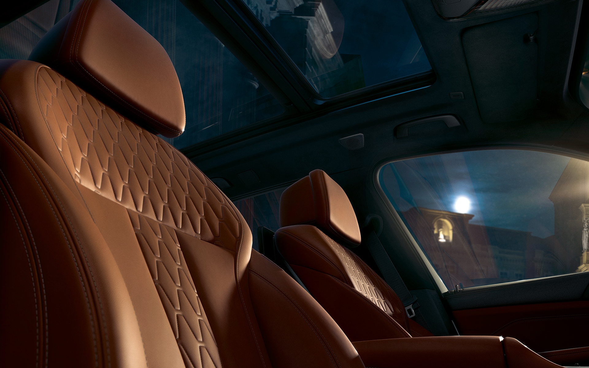 Front seats of the BMW X5