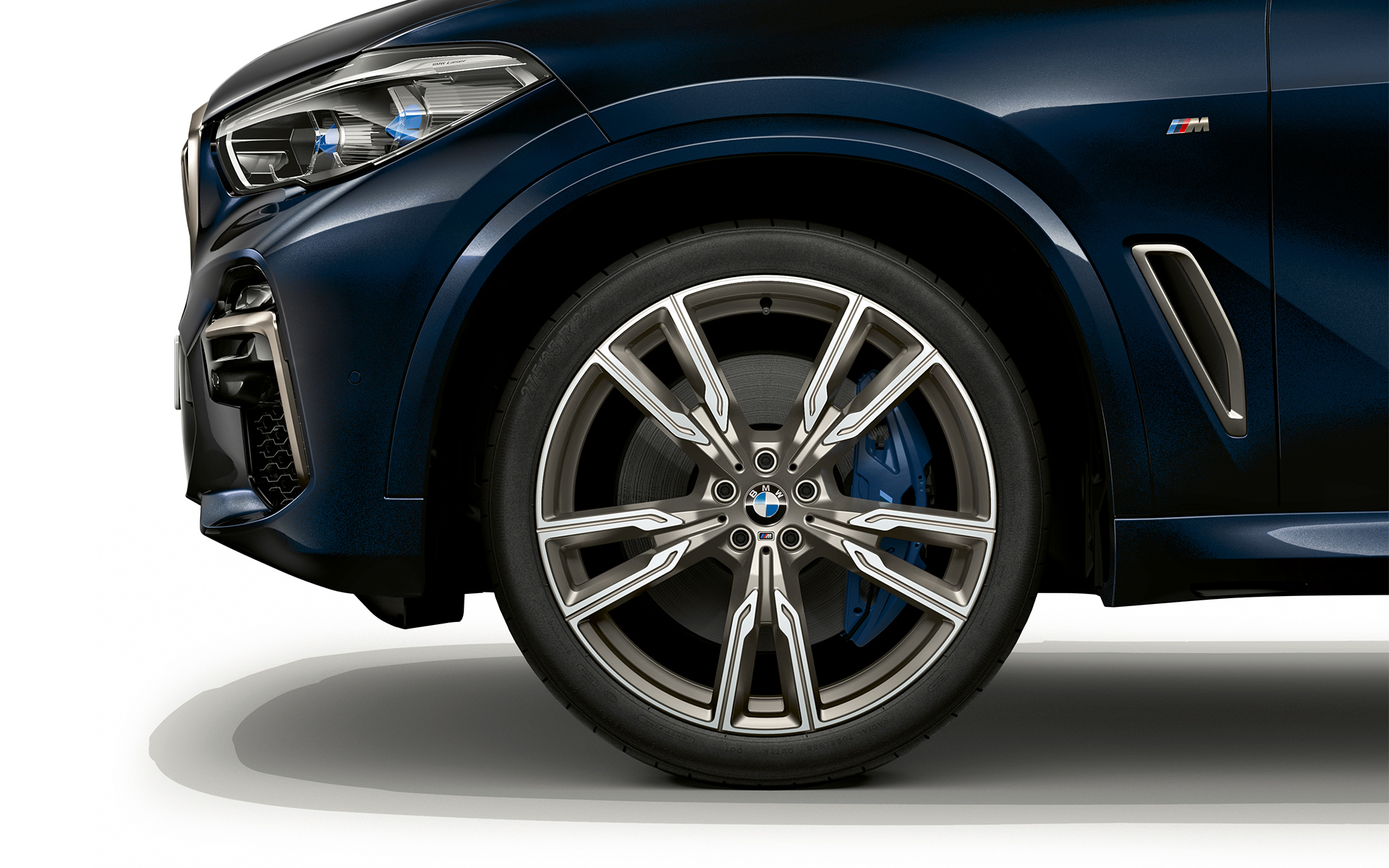 Light alloy wheels of the BMW X5 M50d