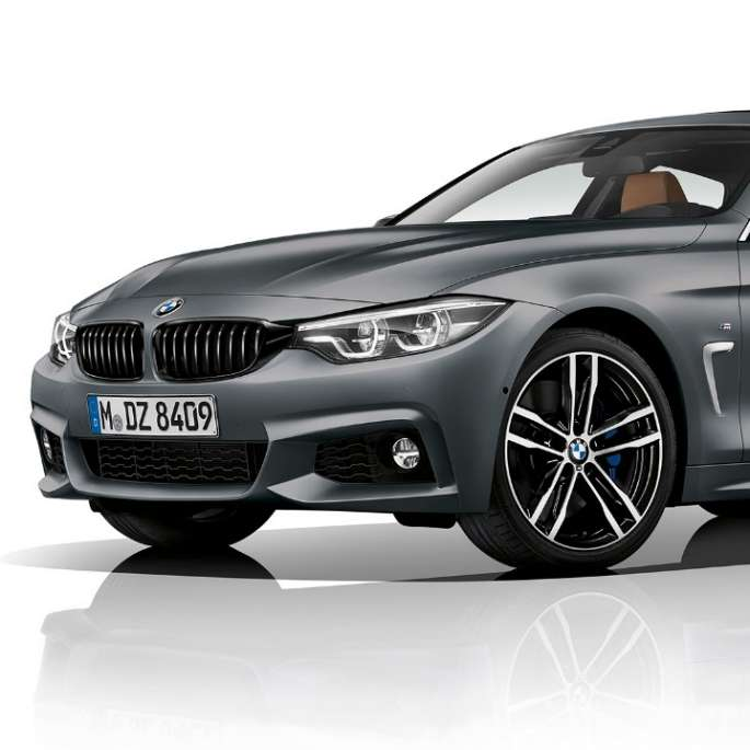 BMW 4 Series Gran Coupé, Model M Sport three-quarter front shot